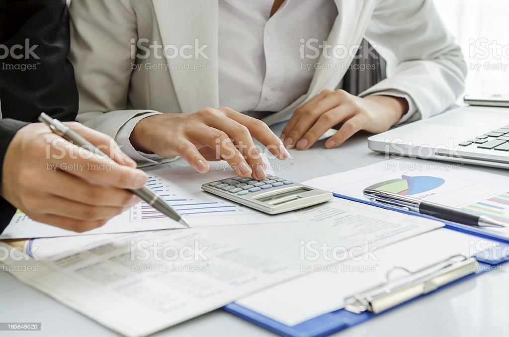 Work discussion stock photo