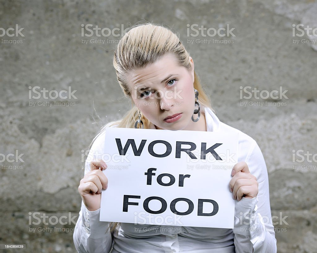 work for food stock photo