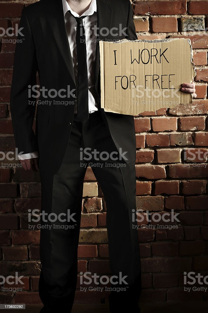 I work for free! royalty-free stock photo