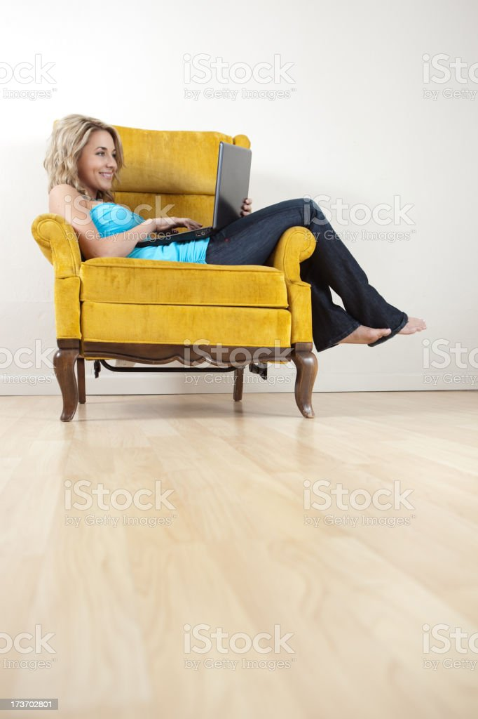 Work From Home royalty-free stock photo