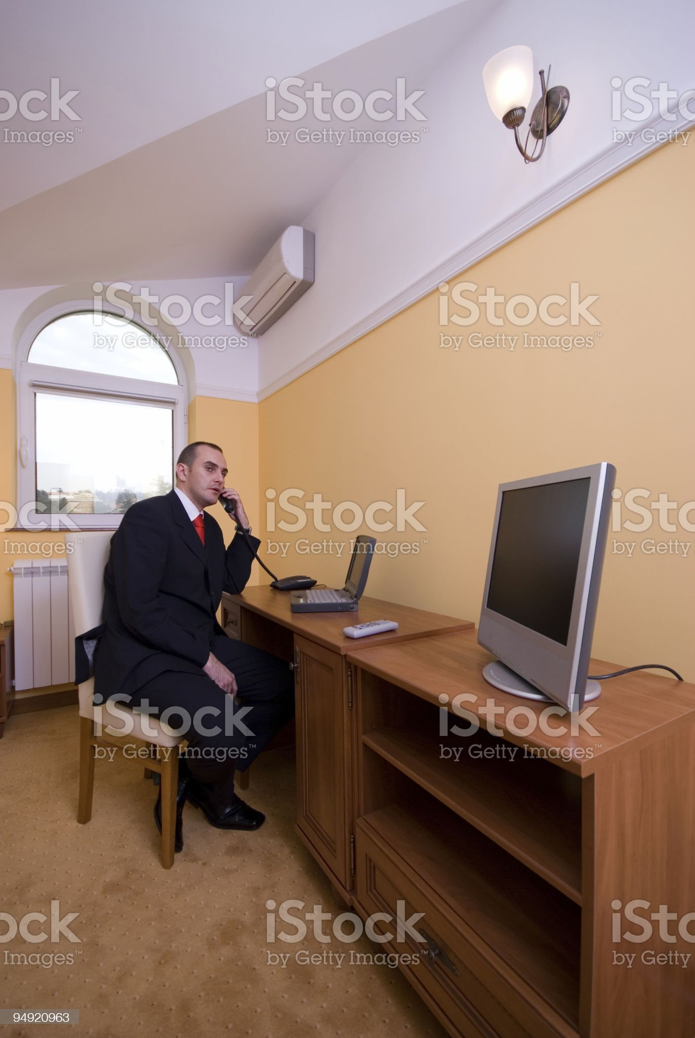 Work from hotel room royalty-free stock photo