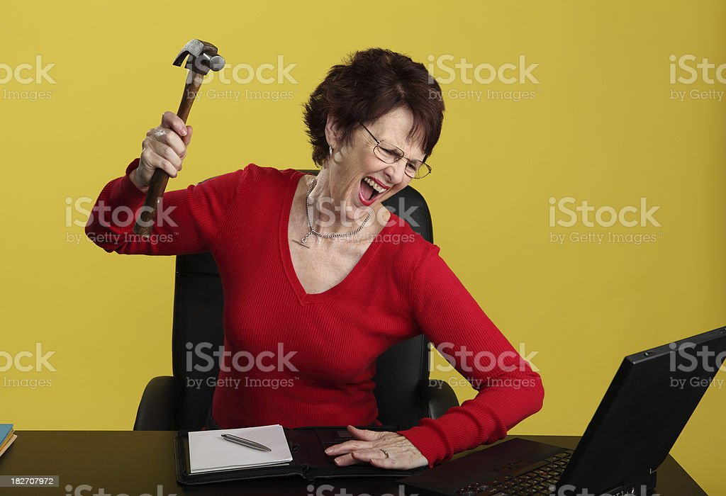 Work Fury royalty-free stock photo