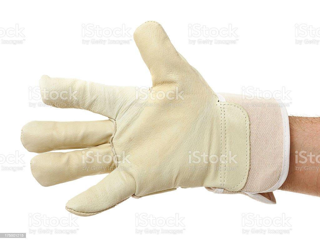 Work Glove Show stock photo