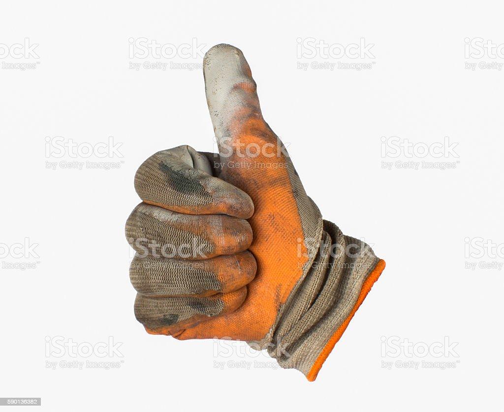 work gloves isolated white background stock photo