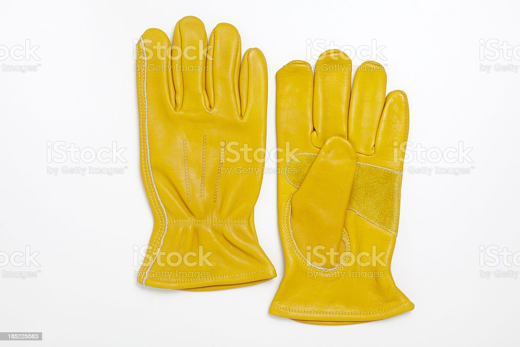 Work Gloves With Clipping Path stock photo