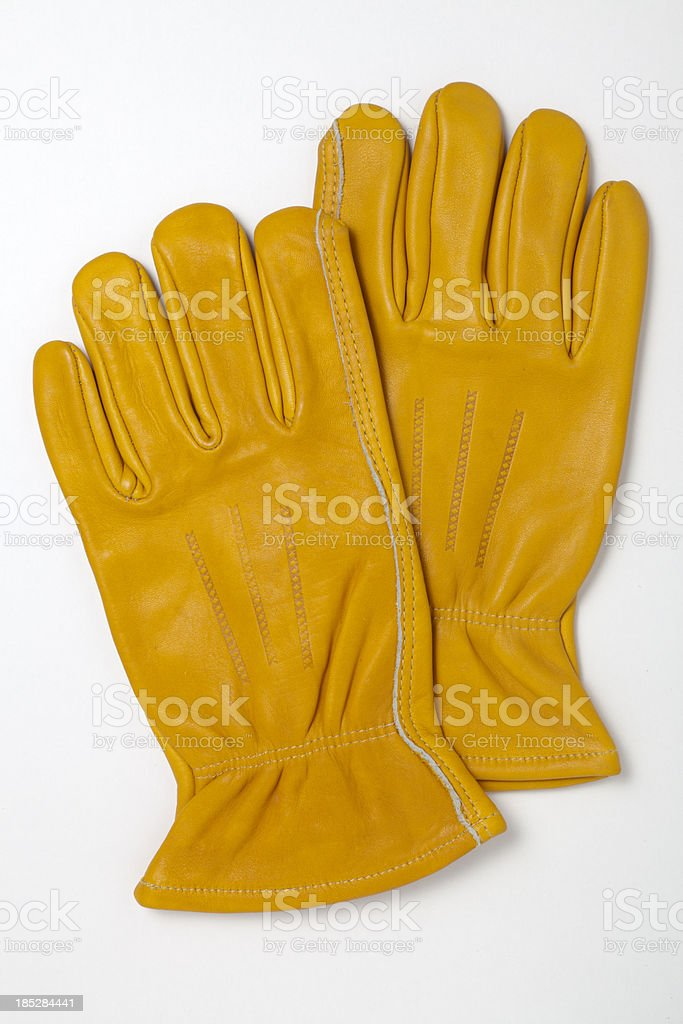 Work Gloves With Clipping Path royalty-free stock photo