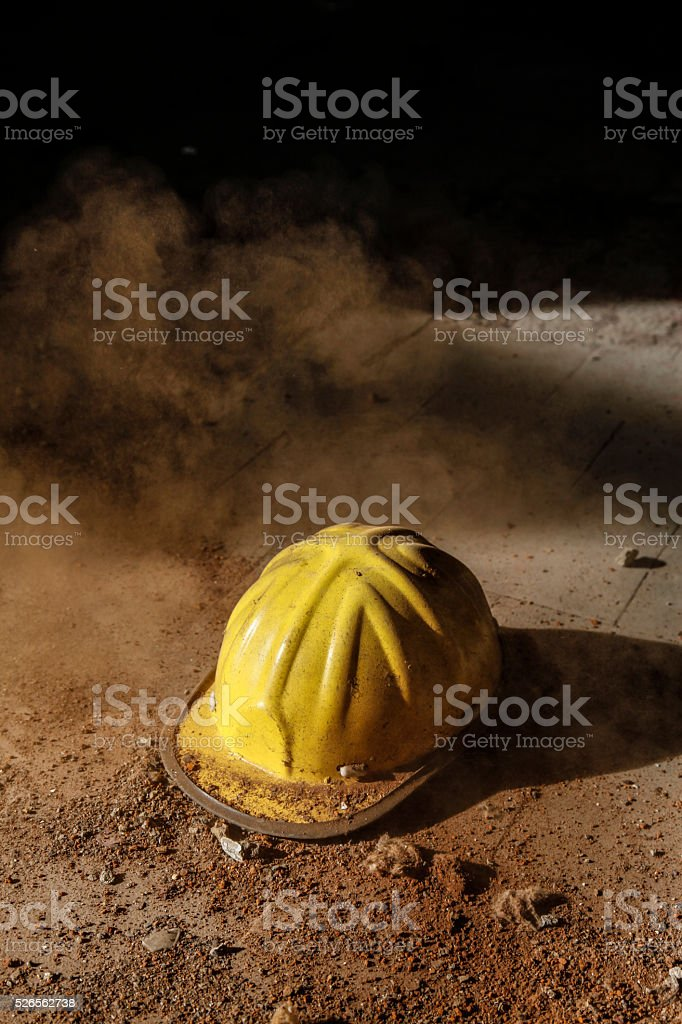 Work helmet stock photo