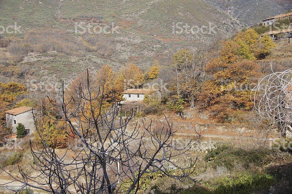 work houses in Guijo royalty-free stock photo