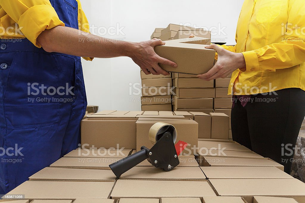 Work in a factory royalty-free stock photo