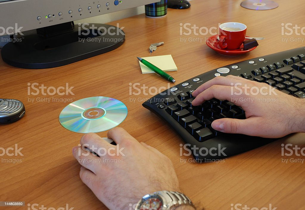 Work in a office royalty-free stock photo