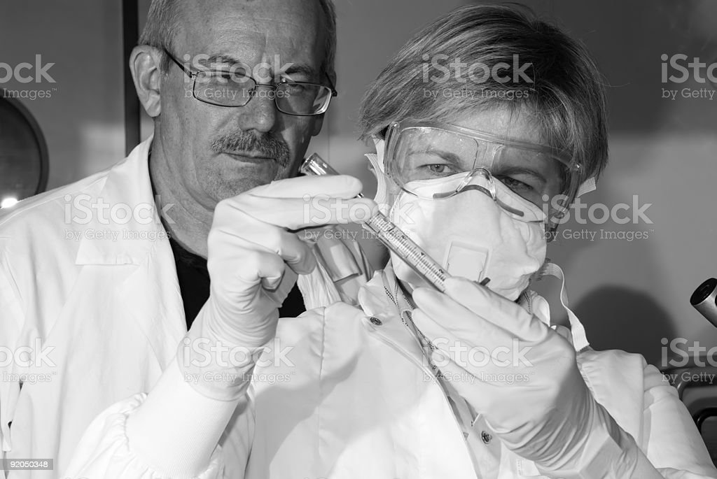 work in laboratory royalty-free stock photo