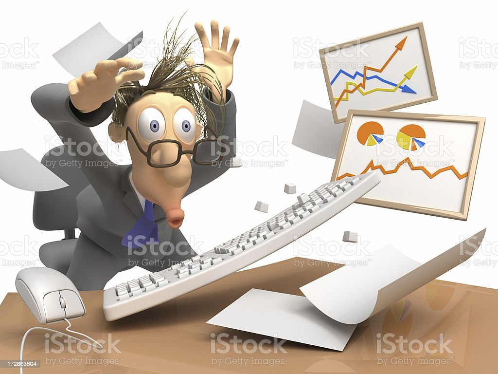 Work in Office royalty-free stock photo