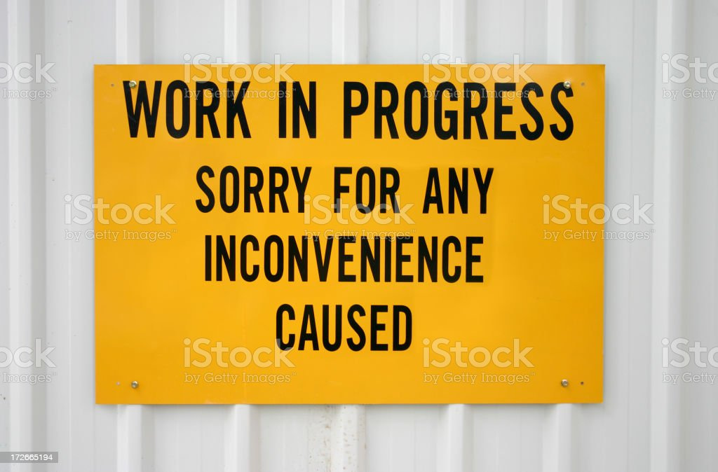 Work in Progress royalty-free stock photo