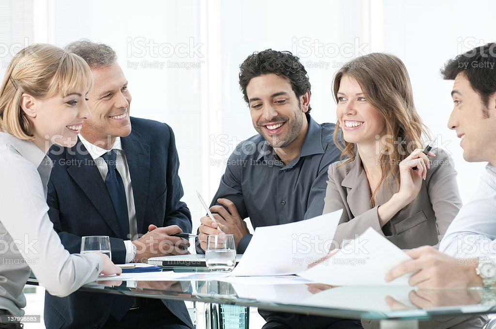 Work in team royalty-free stock photo