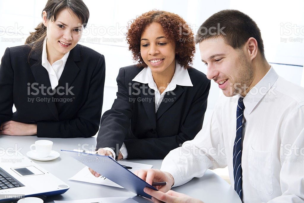 Work in the office royalty-free stock photo
