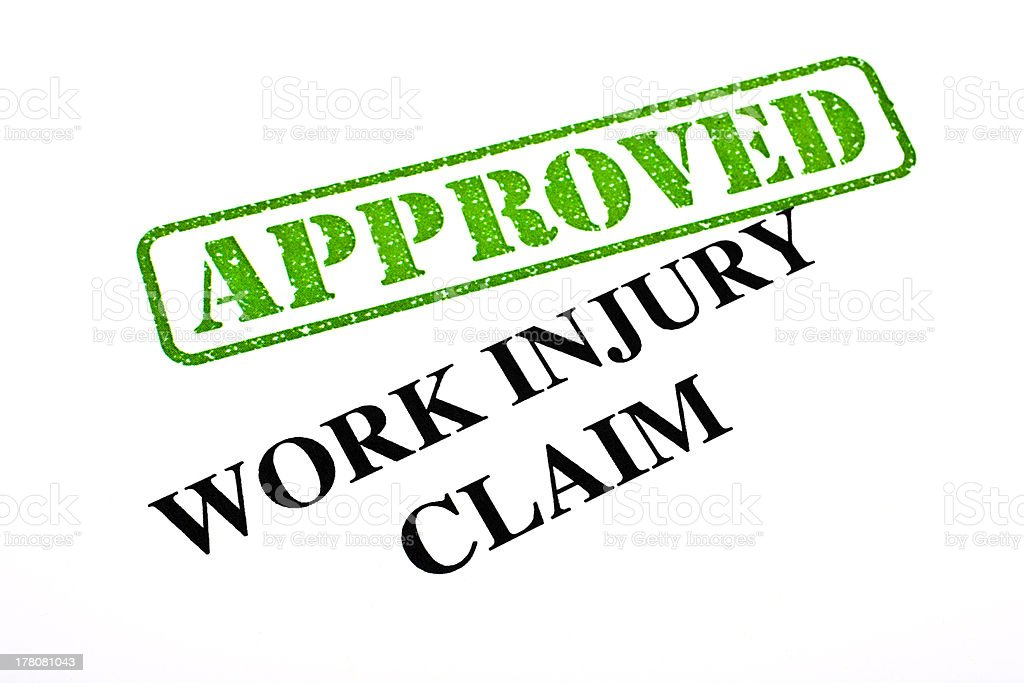Work Injury Claim APPROVED royalty-free stock photo