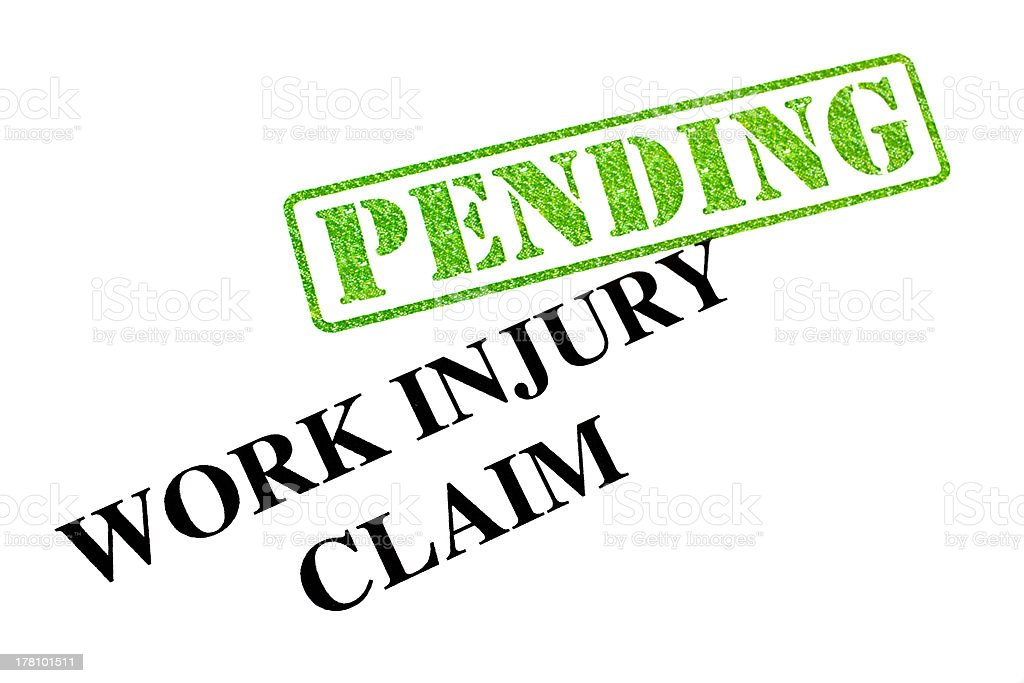 Work Injury Claim PENDING royalty-free stock photo