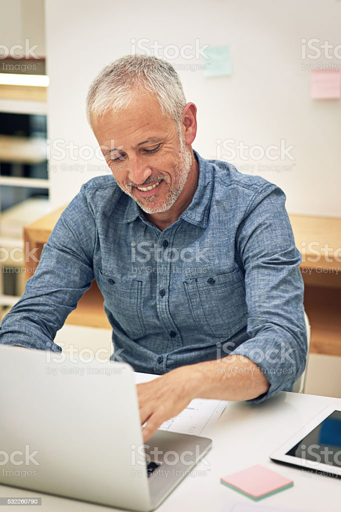Work is a breeze with wireless technology stock photo