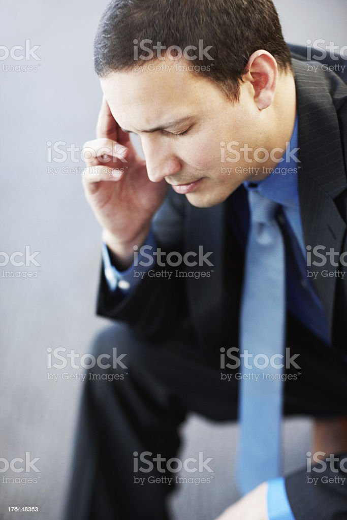 Work is really getting to him royalty-free stock photo
