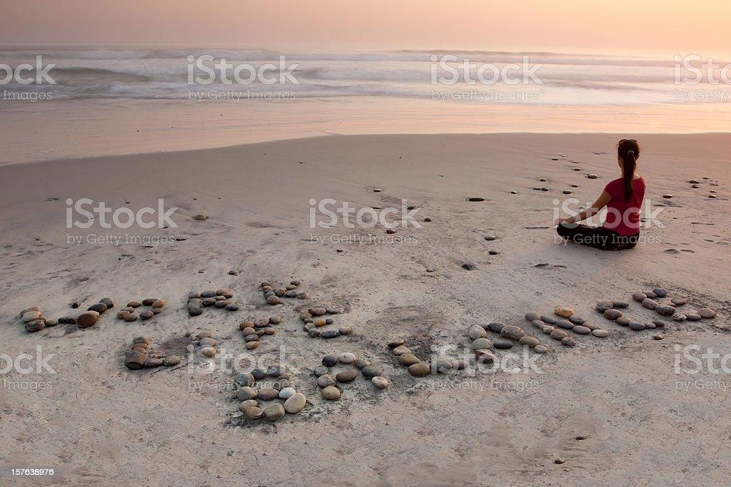 Work Life Balance at the Beach royalty-free stock photo