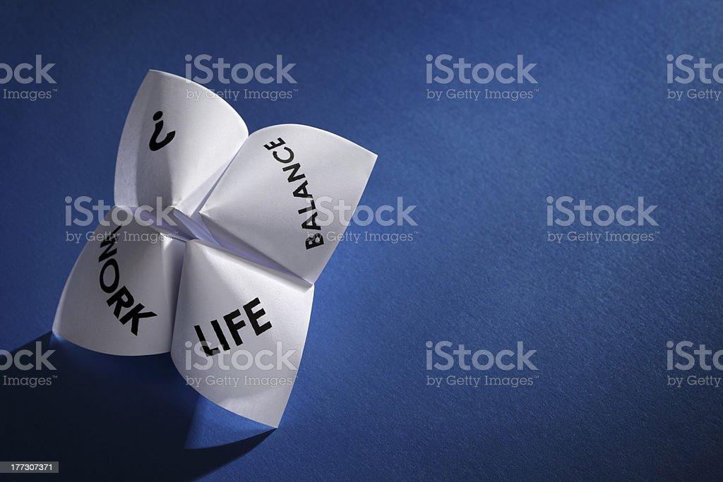 Work life balance choices stock photo