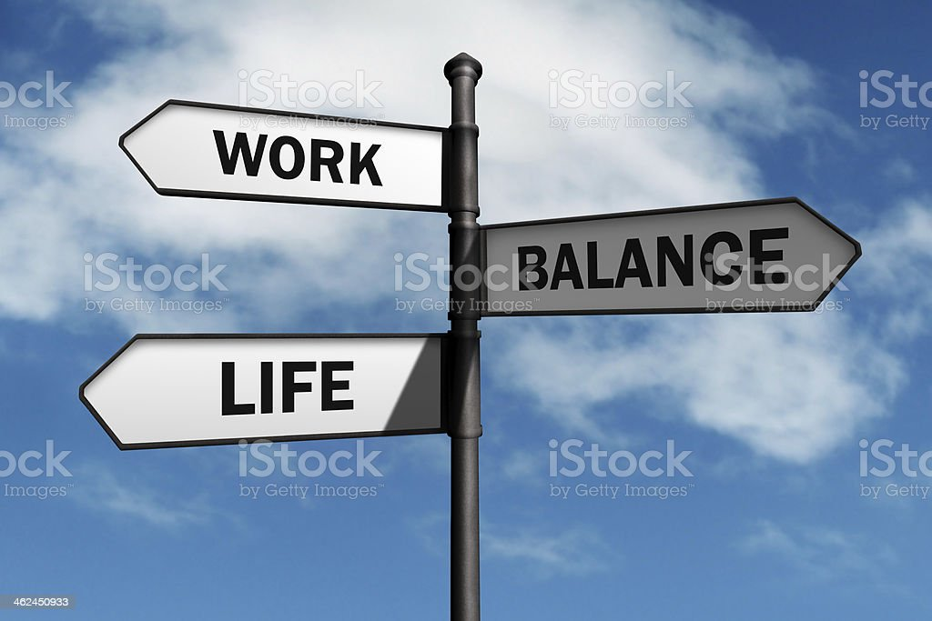 Work life balance choices stock photo