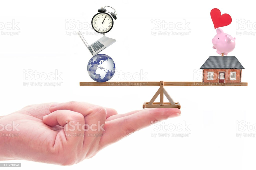 Work life balance concept stock photo