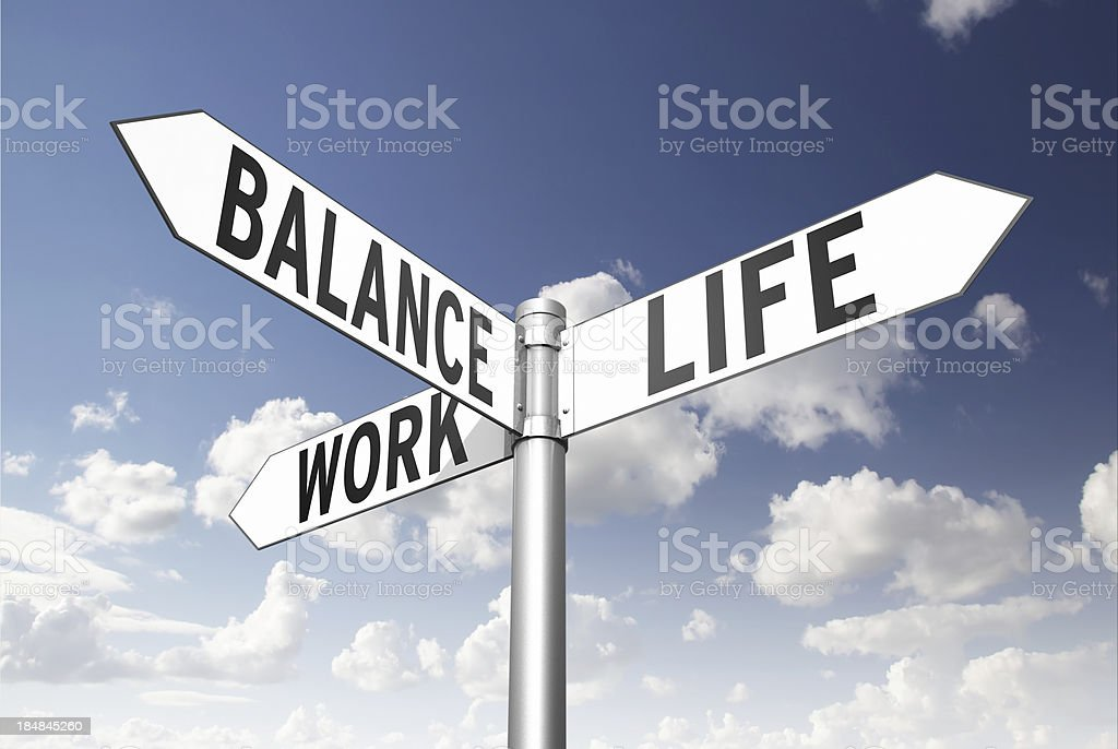 Work Life Balance stock photo