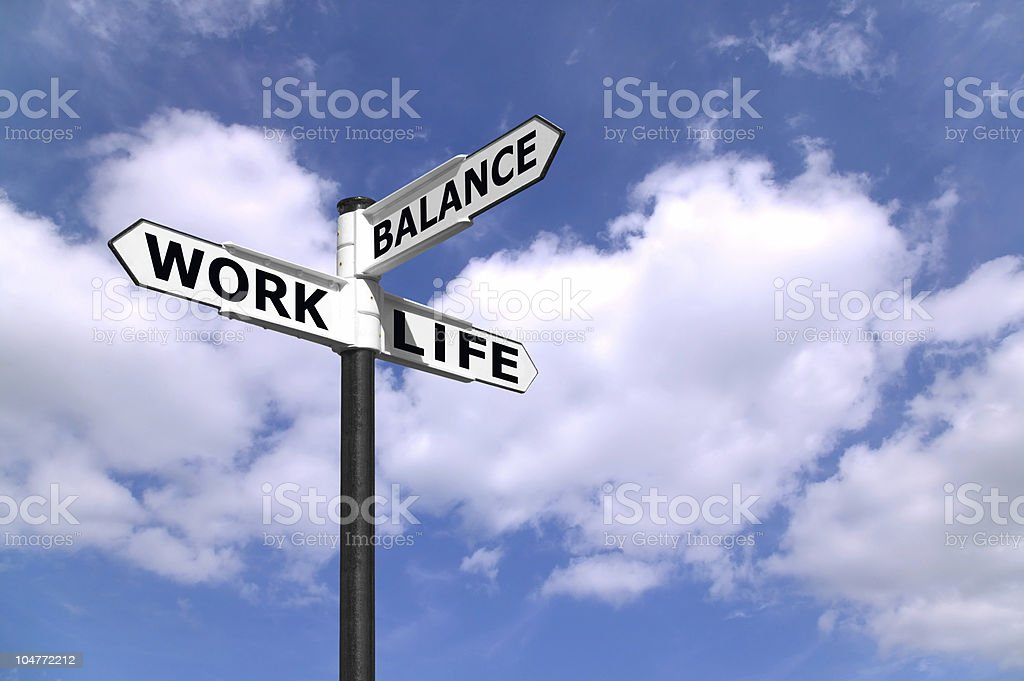 Work Life Balance signpost royalty-free stock photo