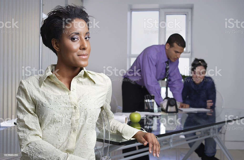 Work meeting royalty-free stock photo