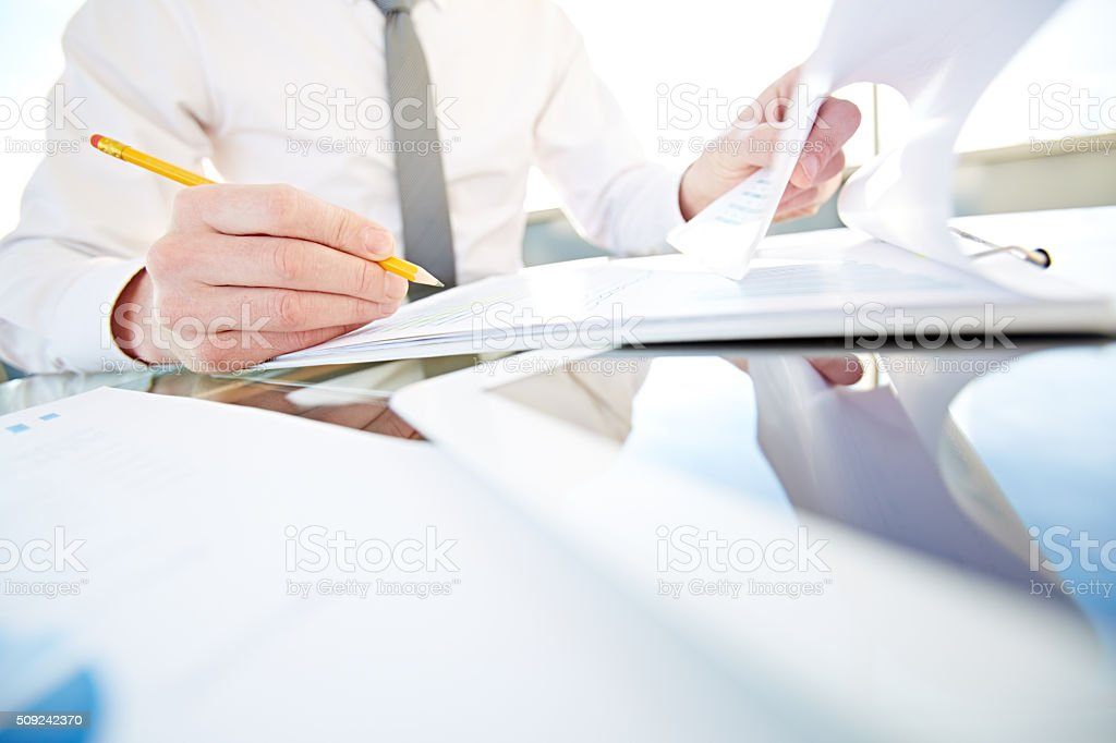 Work of CEO stock photo