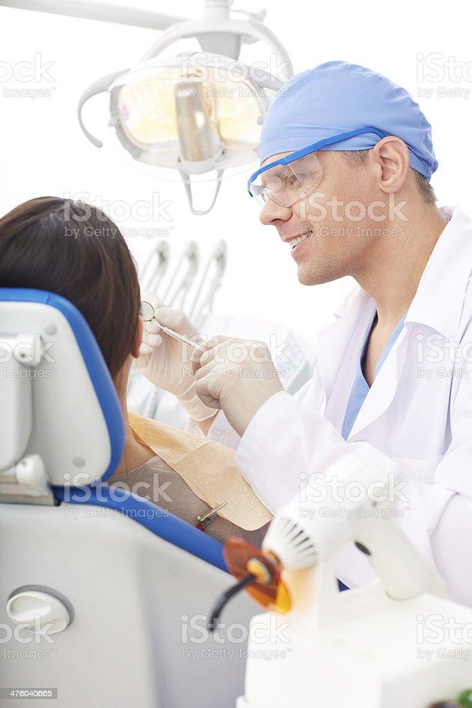 Work of dentist royalty-free stock photo