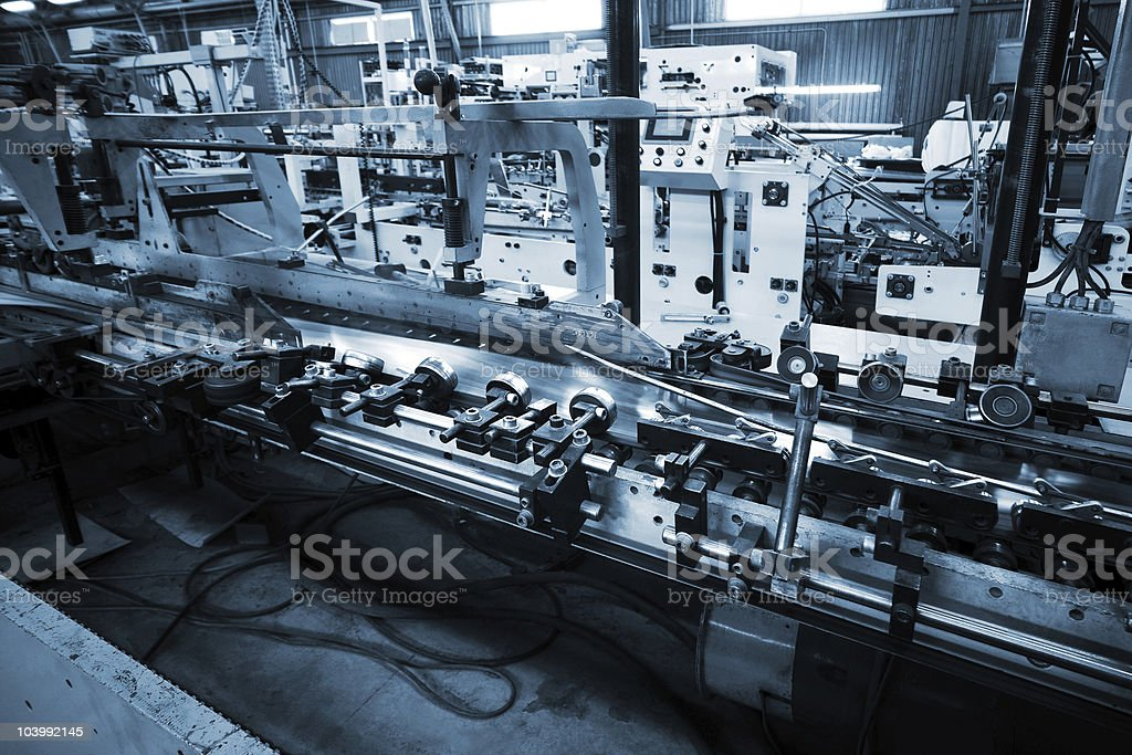 Work of the conveyor stock photo