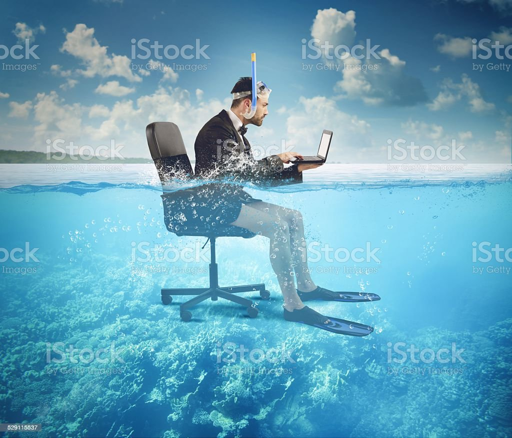 Work on holiday stock photo