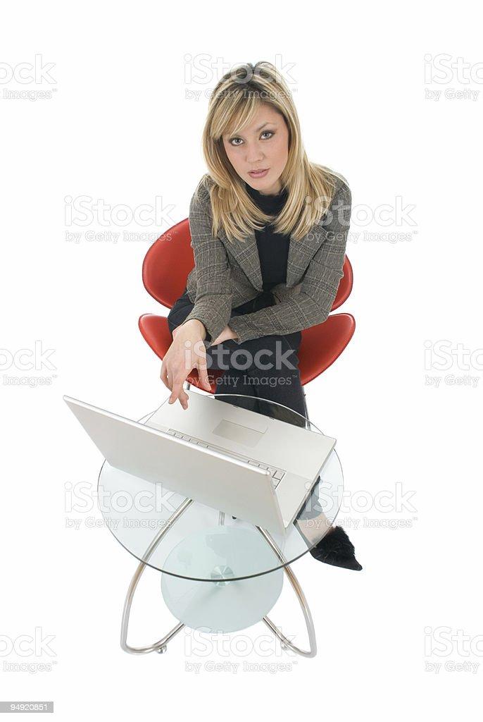 Work on laptop stock photo