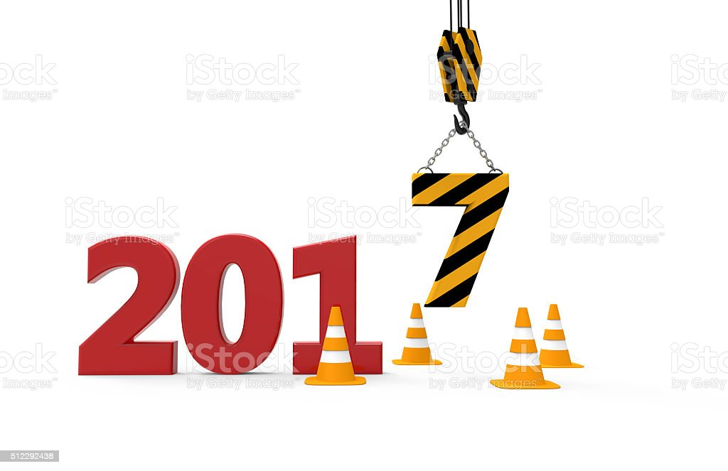 Work on new year 2017 stock photo