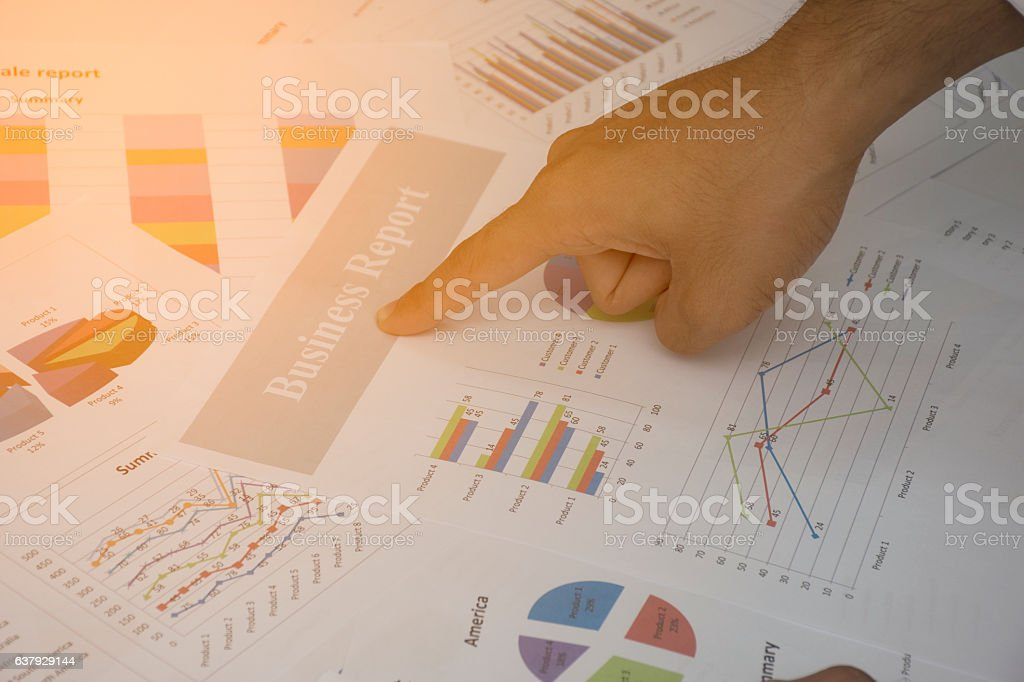 Work on the analysis stock photo