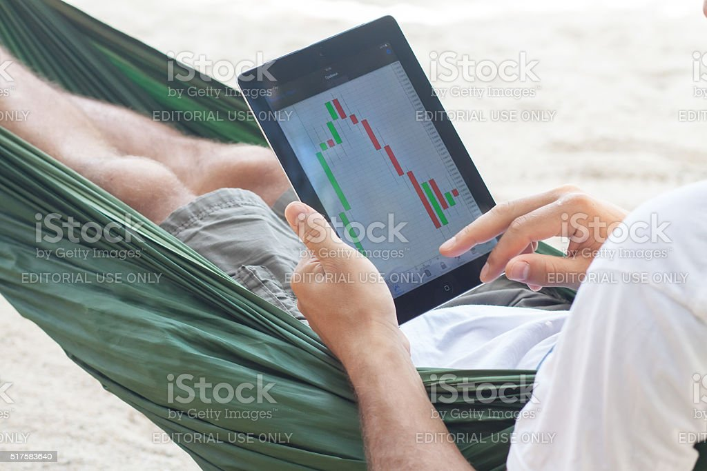 Work on vacation stock photo