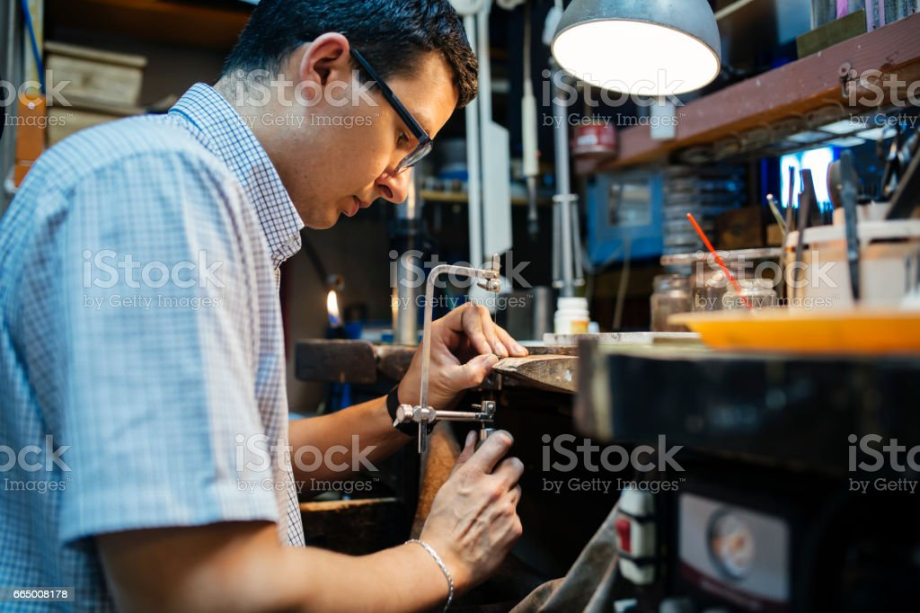 DIY work on workbench with all necessary tools being at hand stock photo