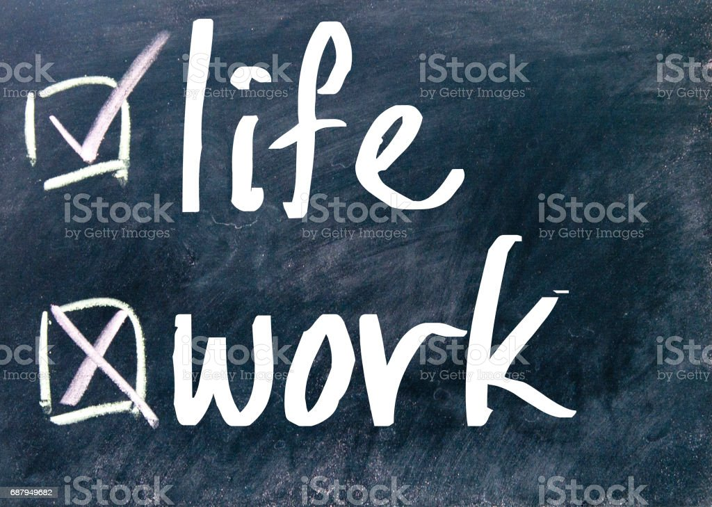 work or life choice stock photo