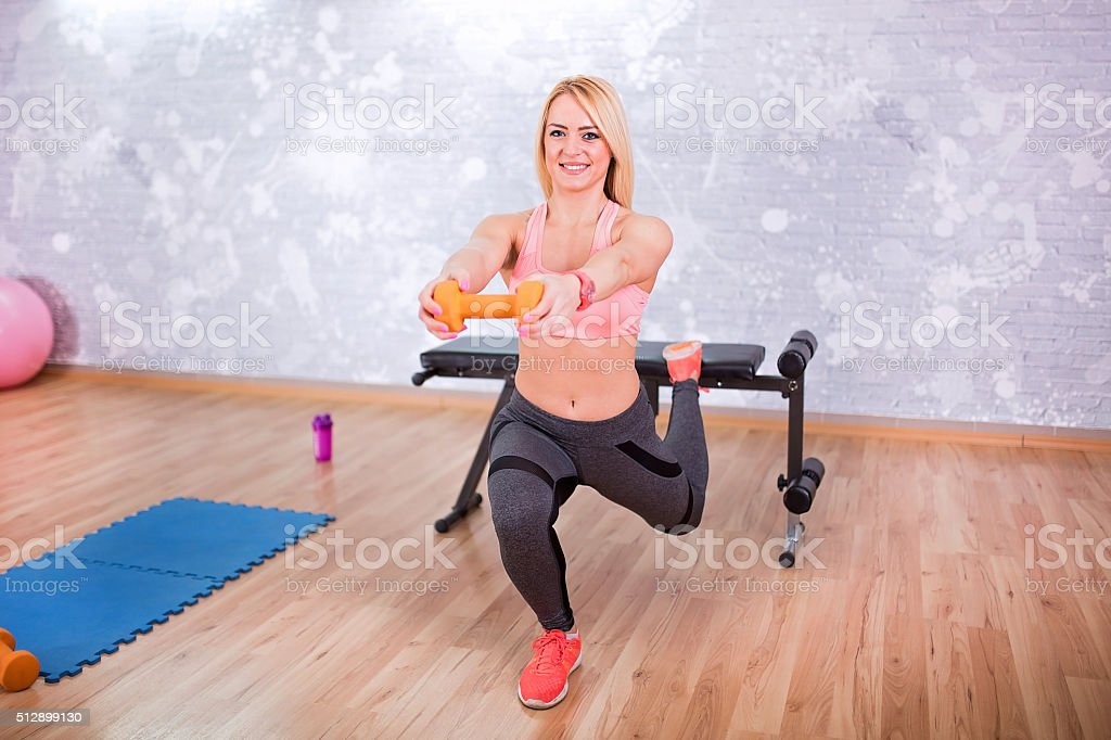 Work out time stock photo