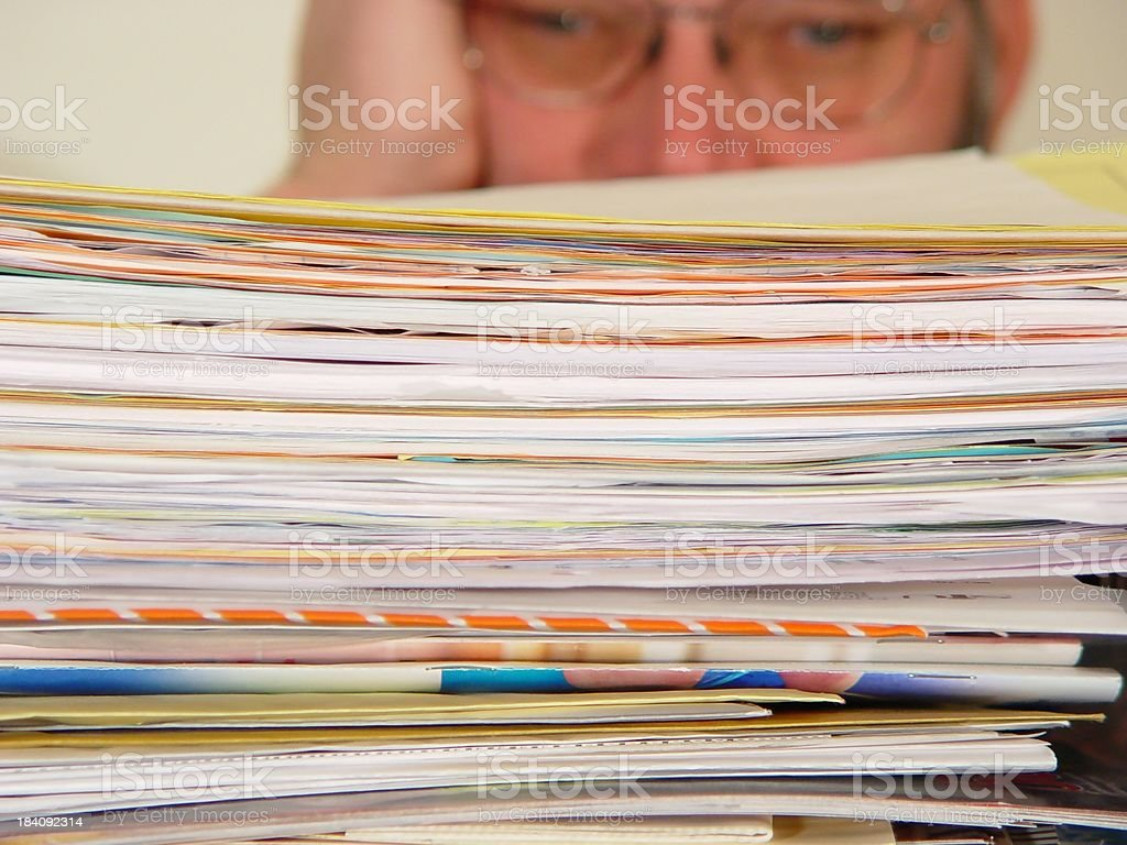 work overload - male royalty-free stock photo