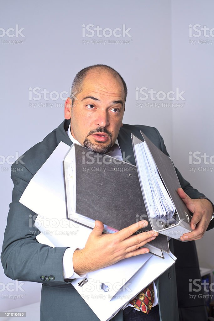 work overload royalty-free stock photo