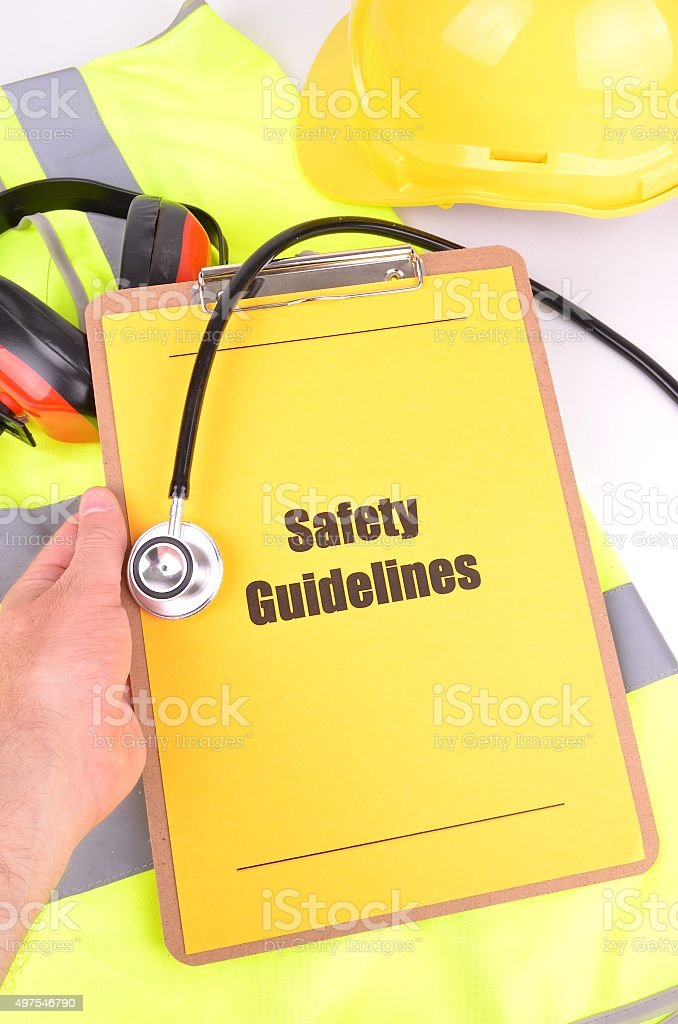 Work Place Safety Guidelines stock photo