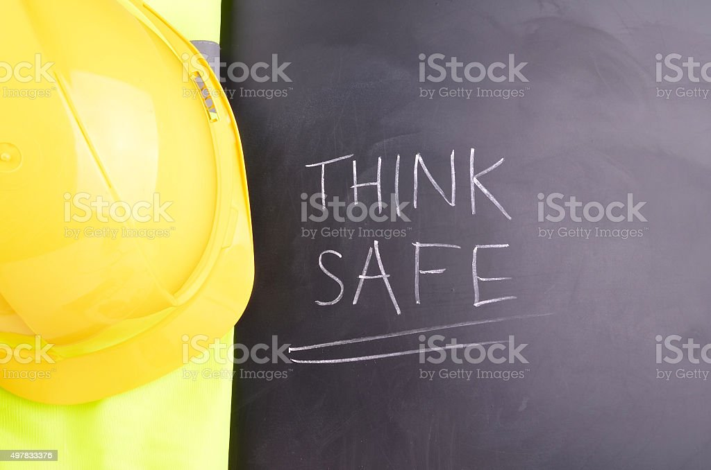 Work Place Safety Message stock photo