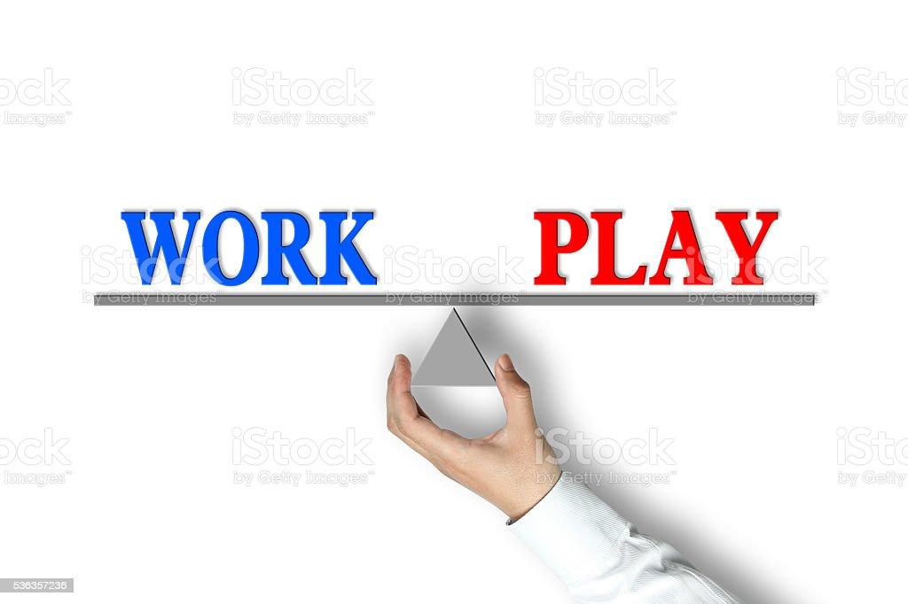 Work Play Balance stock photo