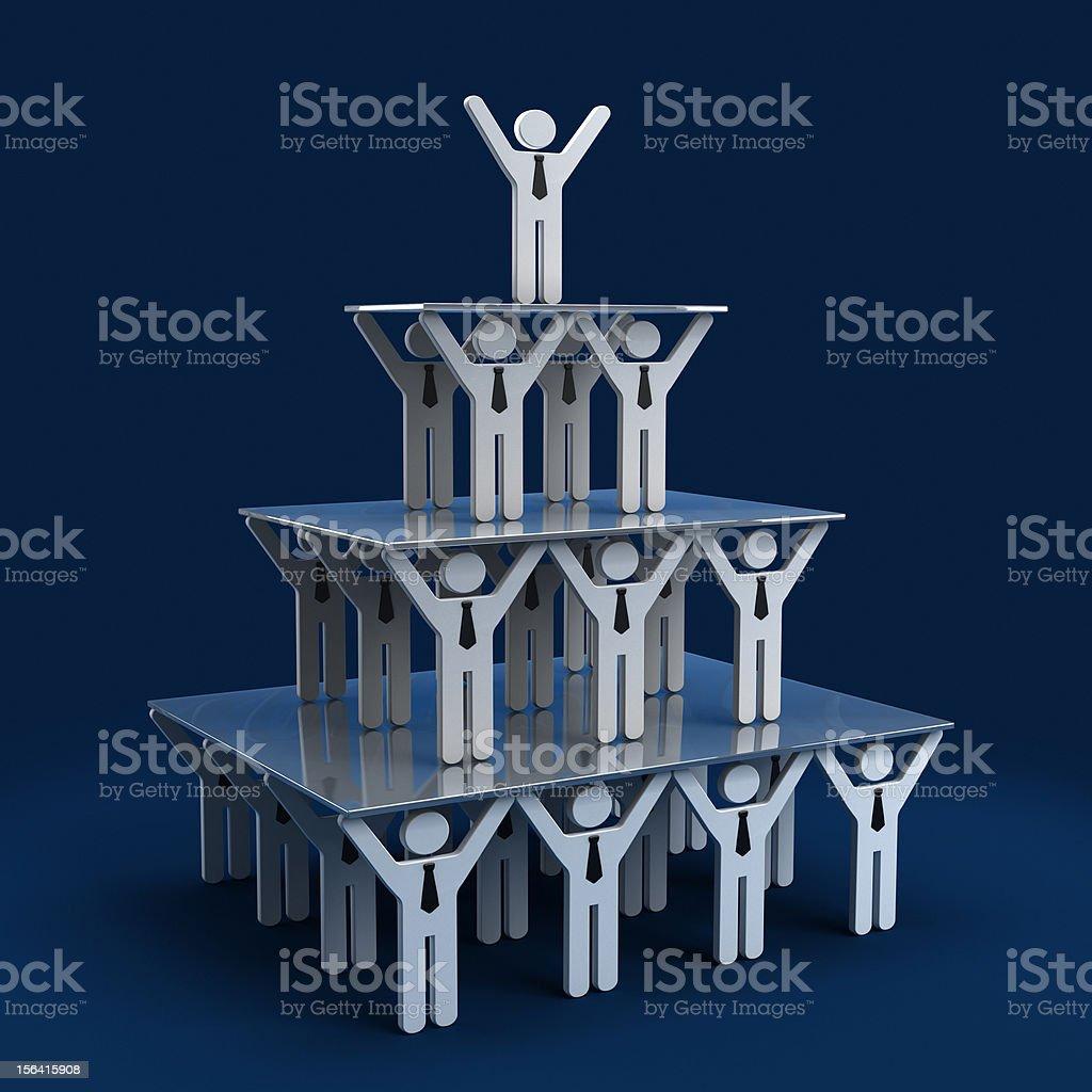 Work pyramid royalty-free stock photo