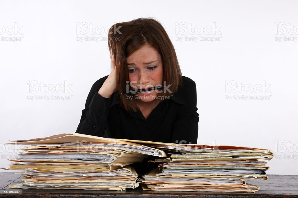 Work related stress royalty-free stock photo