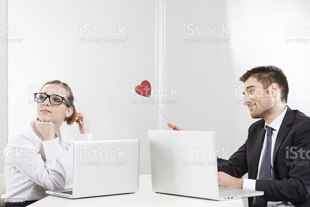Work romance stock photo