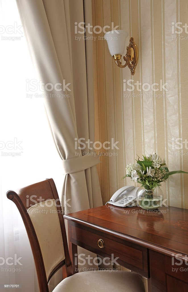 Work room detail in baroque style stock photo